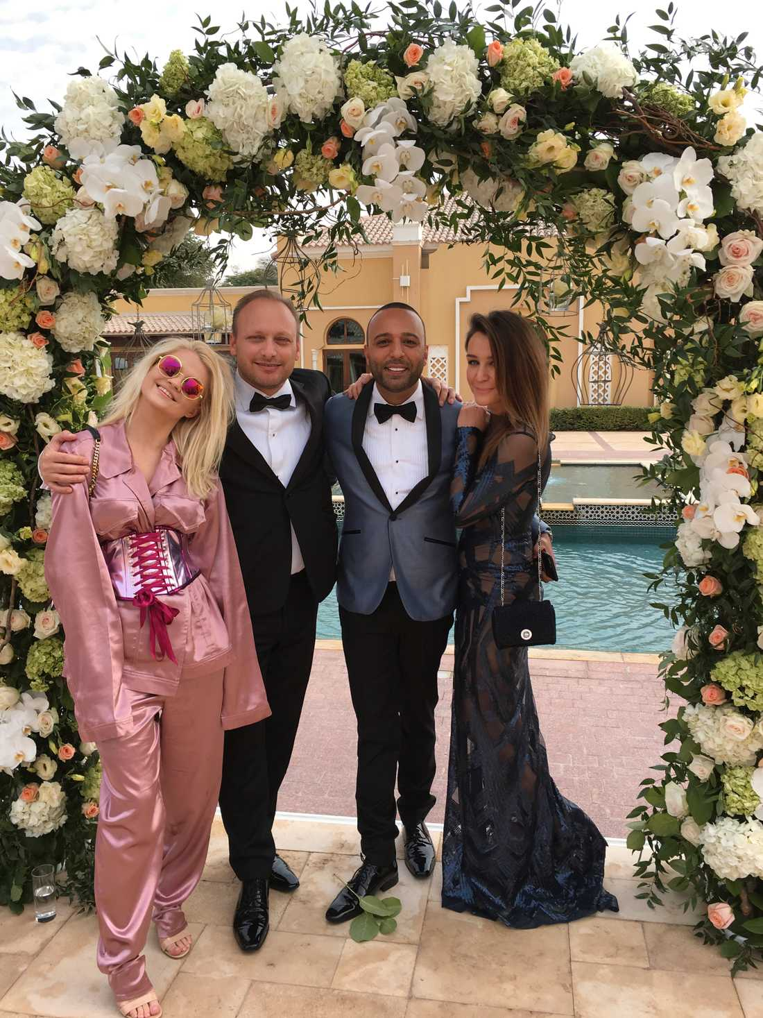 Polska stjärnan Margaret (till vänster) fanns bland gästerna tillsammans med bland andra svenska världsartisten Arash Labaf (tvåa från höger).