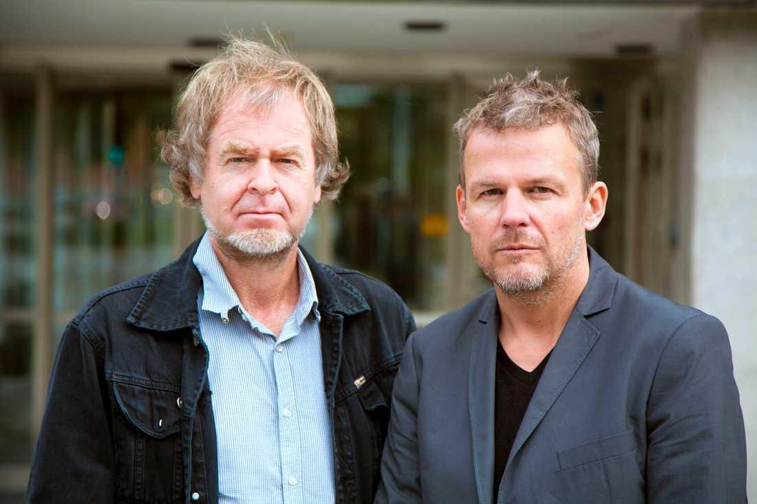 Ingemar Persson och Axel Arnö på SVT:s dokumentärredaktion.