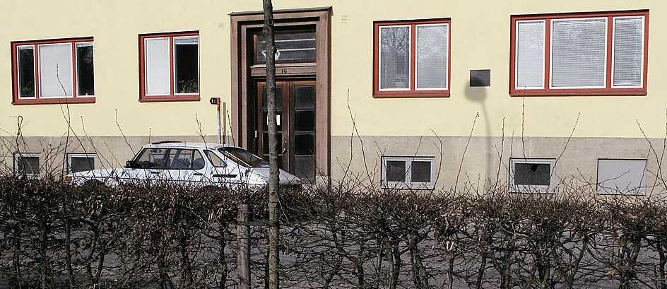Svanevägen 16 i Lund. Här bodde Tage Erlander 1934–38.