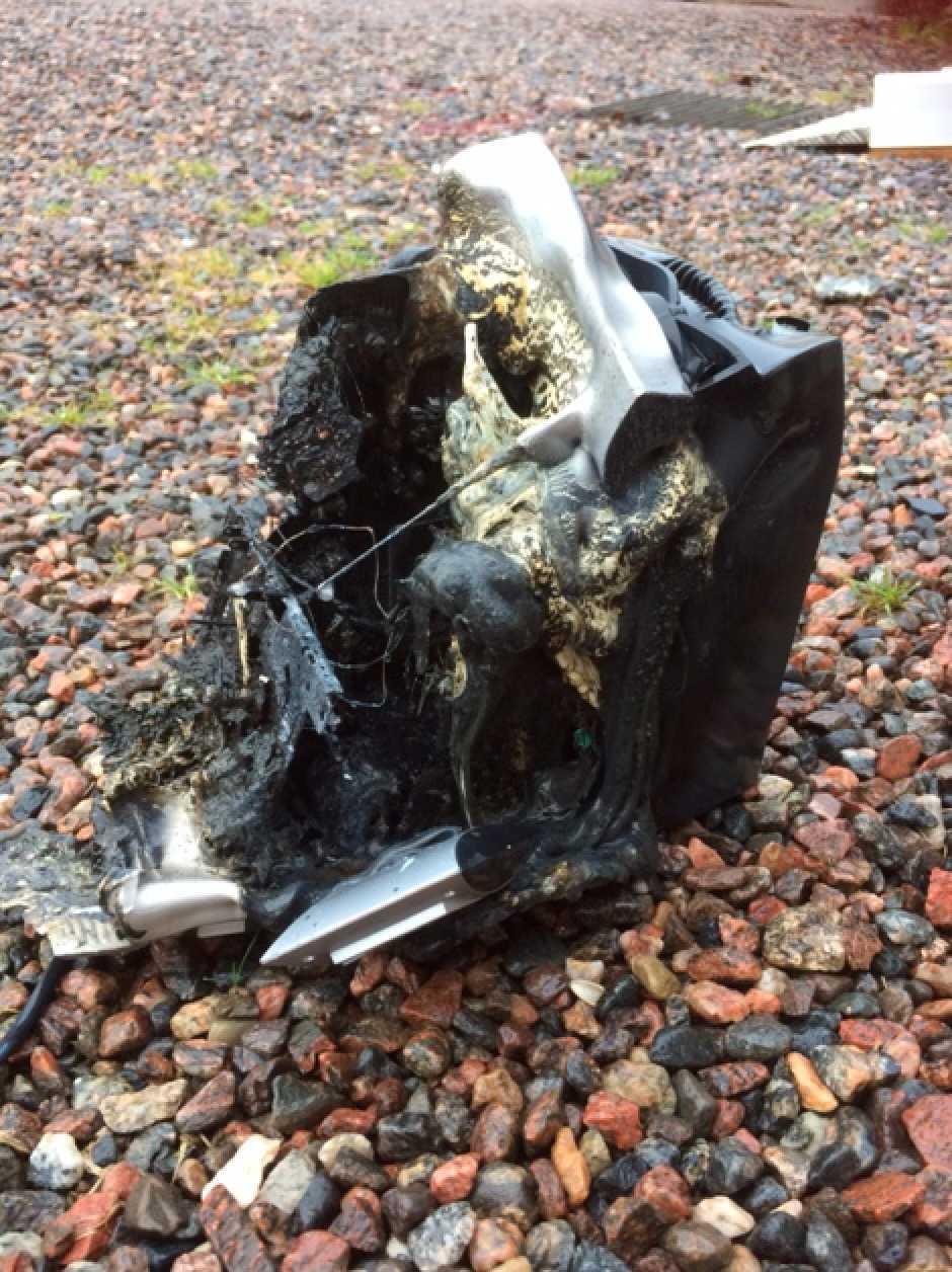 Radion vars elledning där det uppstod en explosion.