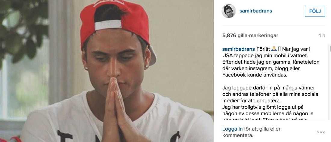 Samir förklarar sig.