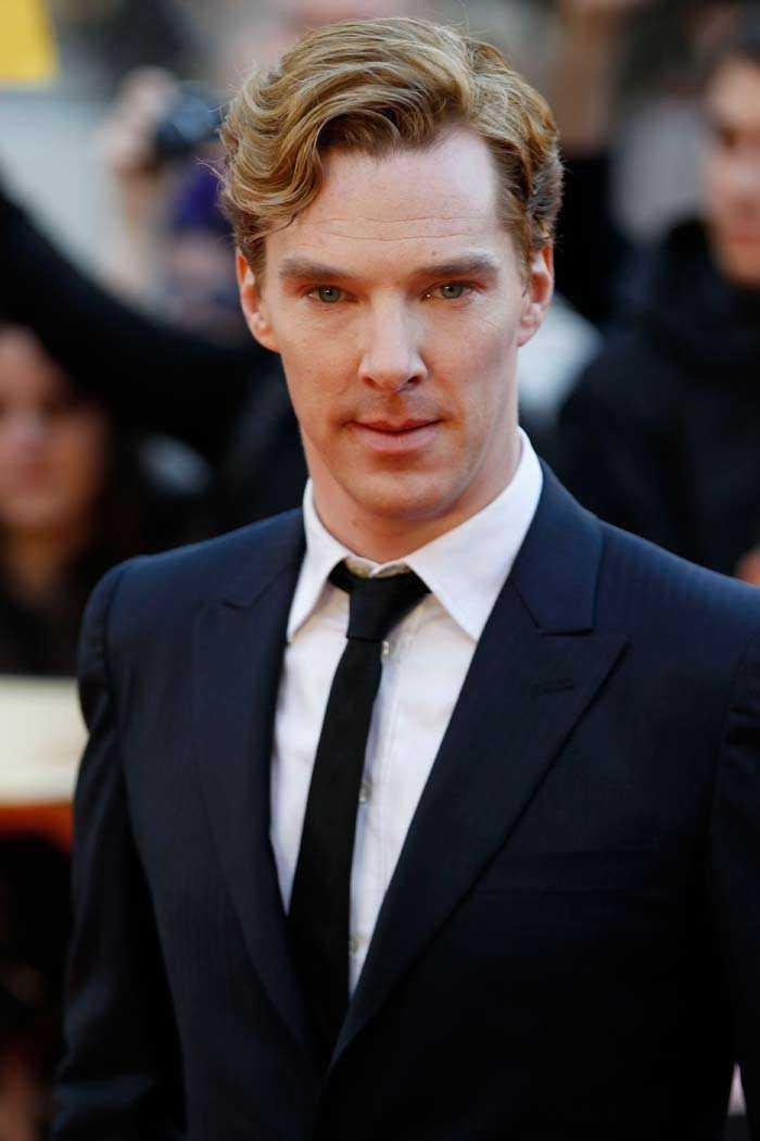 Jo, visst är det han. Världens snyggaste man enligt The Suns läsare: Benedict Cumberbatch.