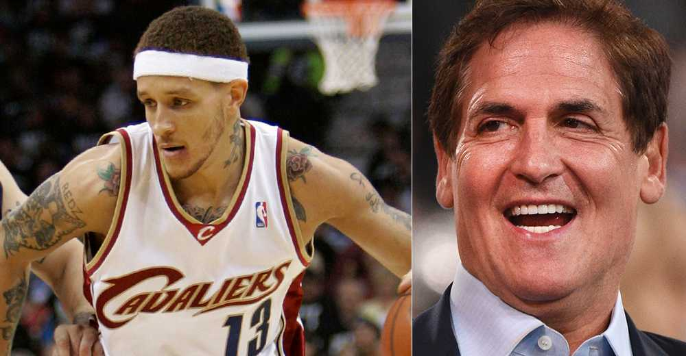 Delonte West och Mark Cuban.