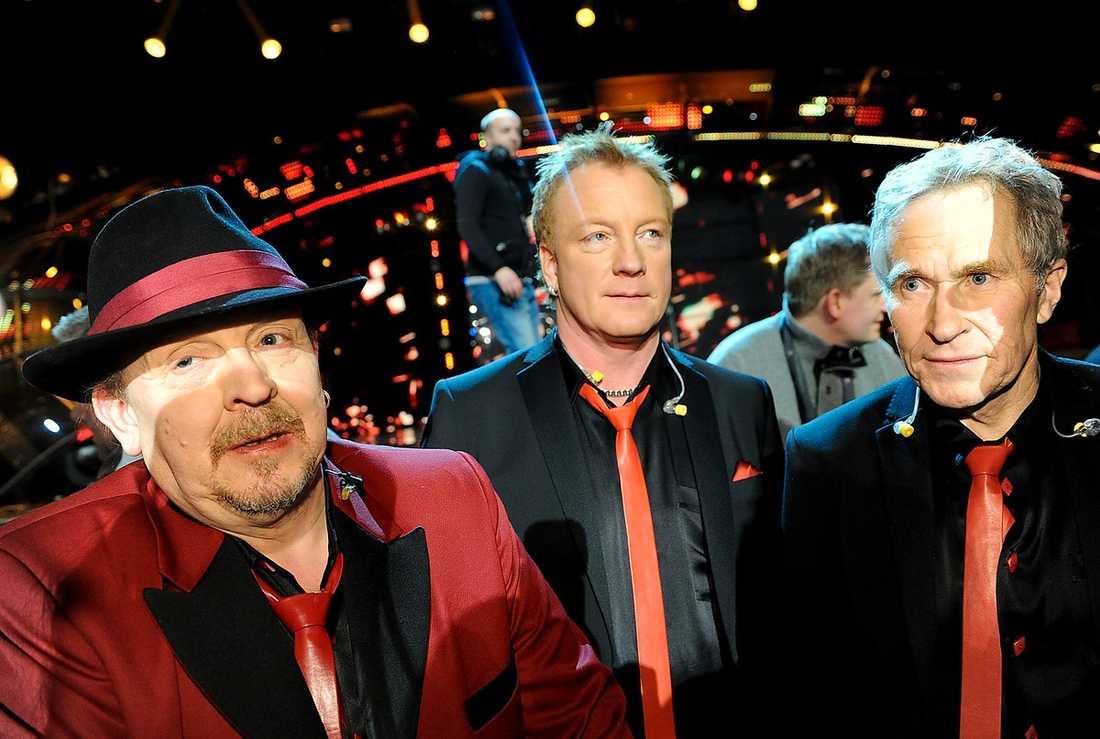 """Lasse Stefanz hamnade på femte plats i Melodifestivalen 2011. """"Klart man är besviken, det var ju Globen som var grejen"""", sa sångaren Olle Jönsson"""