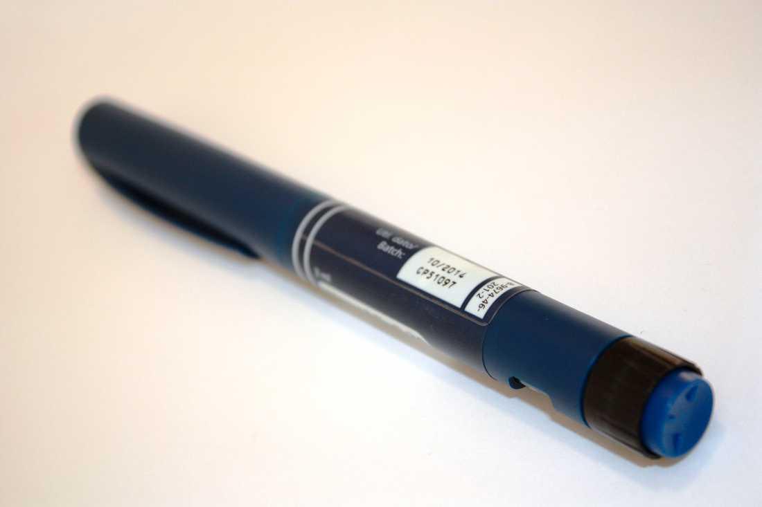 En insulinpenna tillverkad av Novo Nordisk. Arkivbild.