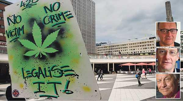 Röster höjs för en liberalisering av politiken och legalisering av cannabis. Vi anser att det vore fel väg att gå, skriver Sven-Olov Carlsson, Peter Allebeck och Bengt Westerberg. Bilden är ett montage.