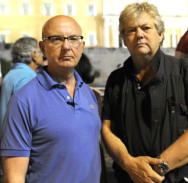 Aftonbladets Peter Kadhammar och Urban Andersson på plats i Aten.
