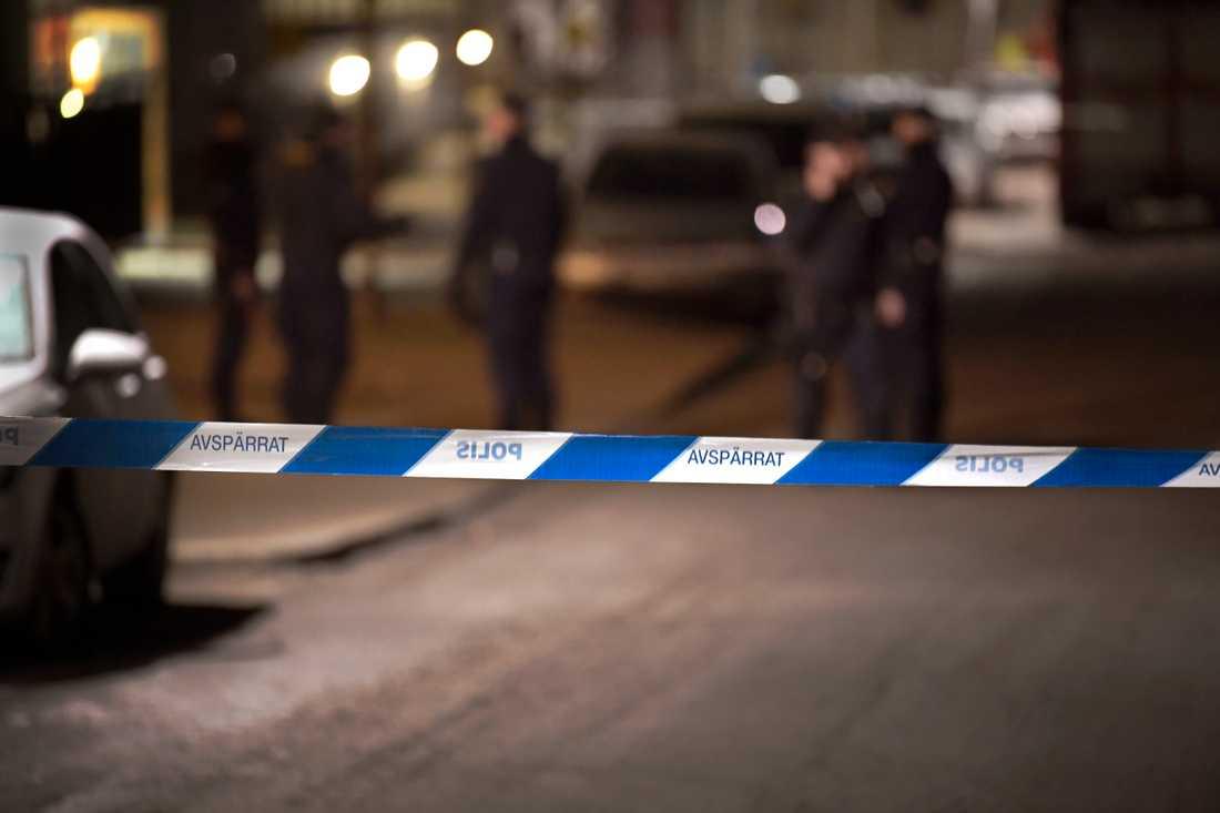 Ingen skadades vid lördagskvällens skottlossning i Landskrona. Arkivbild.