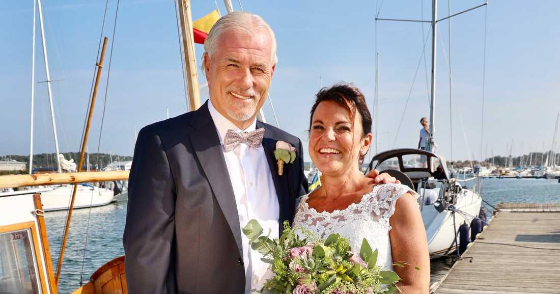 Glenn Hysén och Camilla Lendott gifte sig i slutet av sommaren.