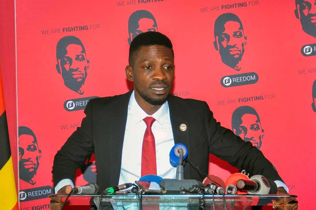 Oppositionskandidaten Bobi Wine. Arkivbild.