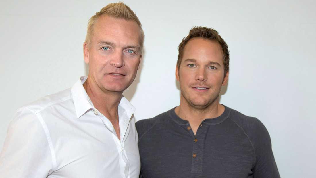 Nöjesbladets Magnus Sundholm möter Chris Pratt.