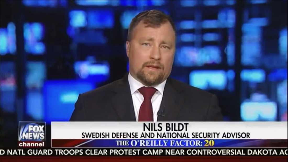 Nils Bildt dök upp som sakkunnig i Fox News.