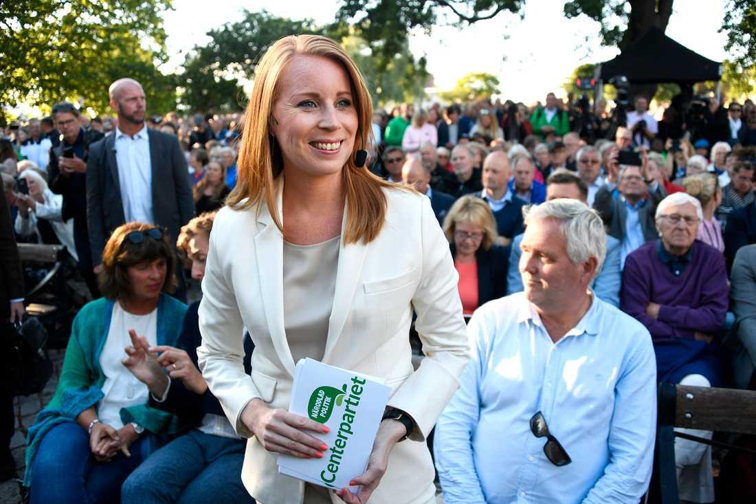 Under tisdagen höll Centerpartiets partiledare Annie Lööf tal i Almedalen.