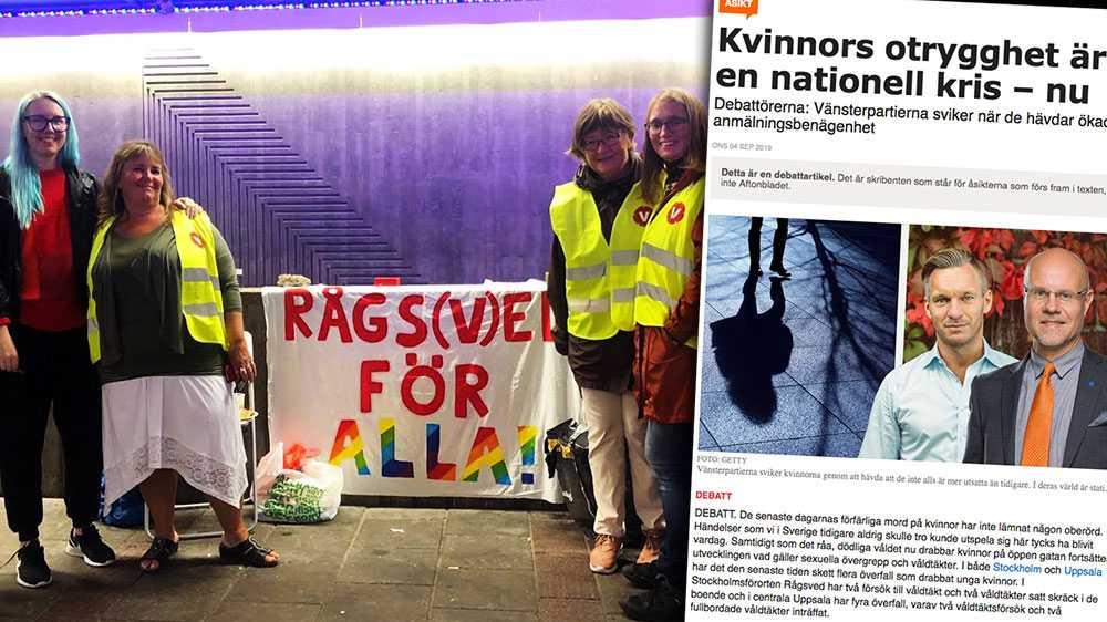 Överfallsvåldtäkter är en fråga om ett kvinnohat som finns såväl i Rågsved som på Östermalm. Vi tror därför att det är förebyggande arbete, feminism och arbete mot diskriminering som är lösningen på problemet, skriver Vänsterkvinnor i Rågsved.