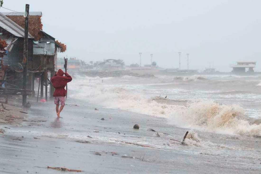 Supertyfonen Goni har rapporterats det allra kraftigaste ovädret i världen hittills i år.