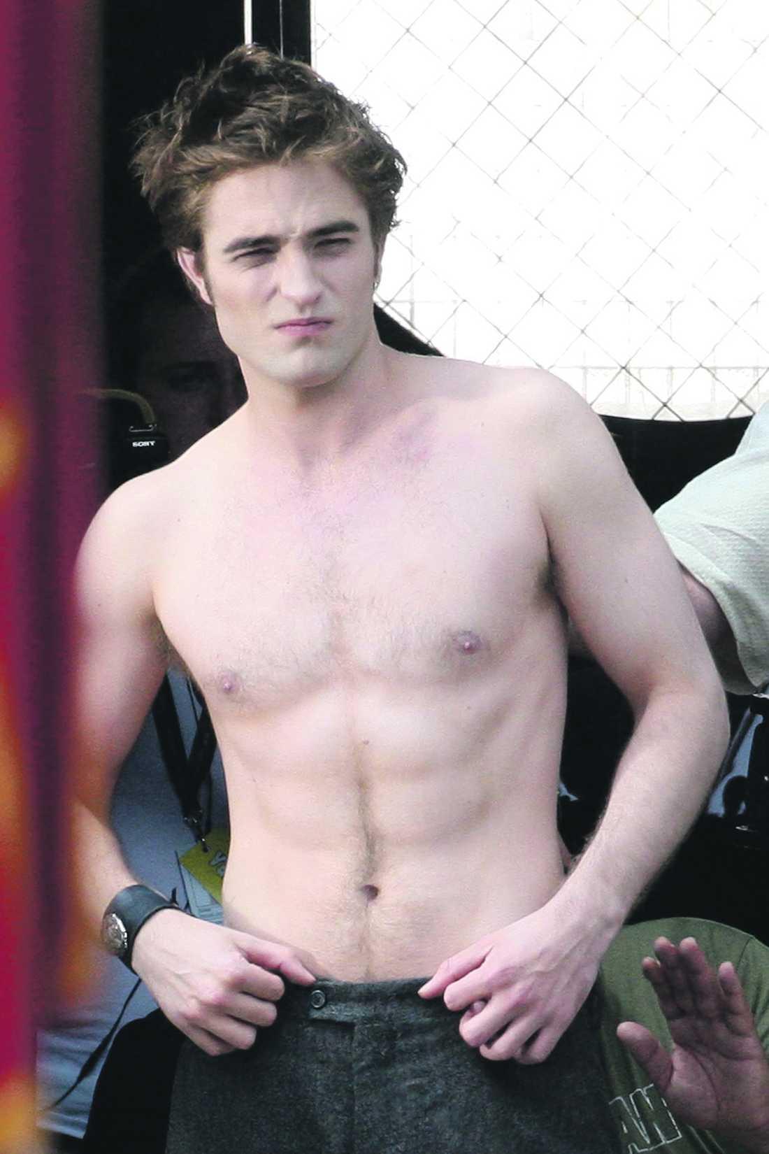Robert Pattinson vid inspelningen.