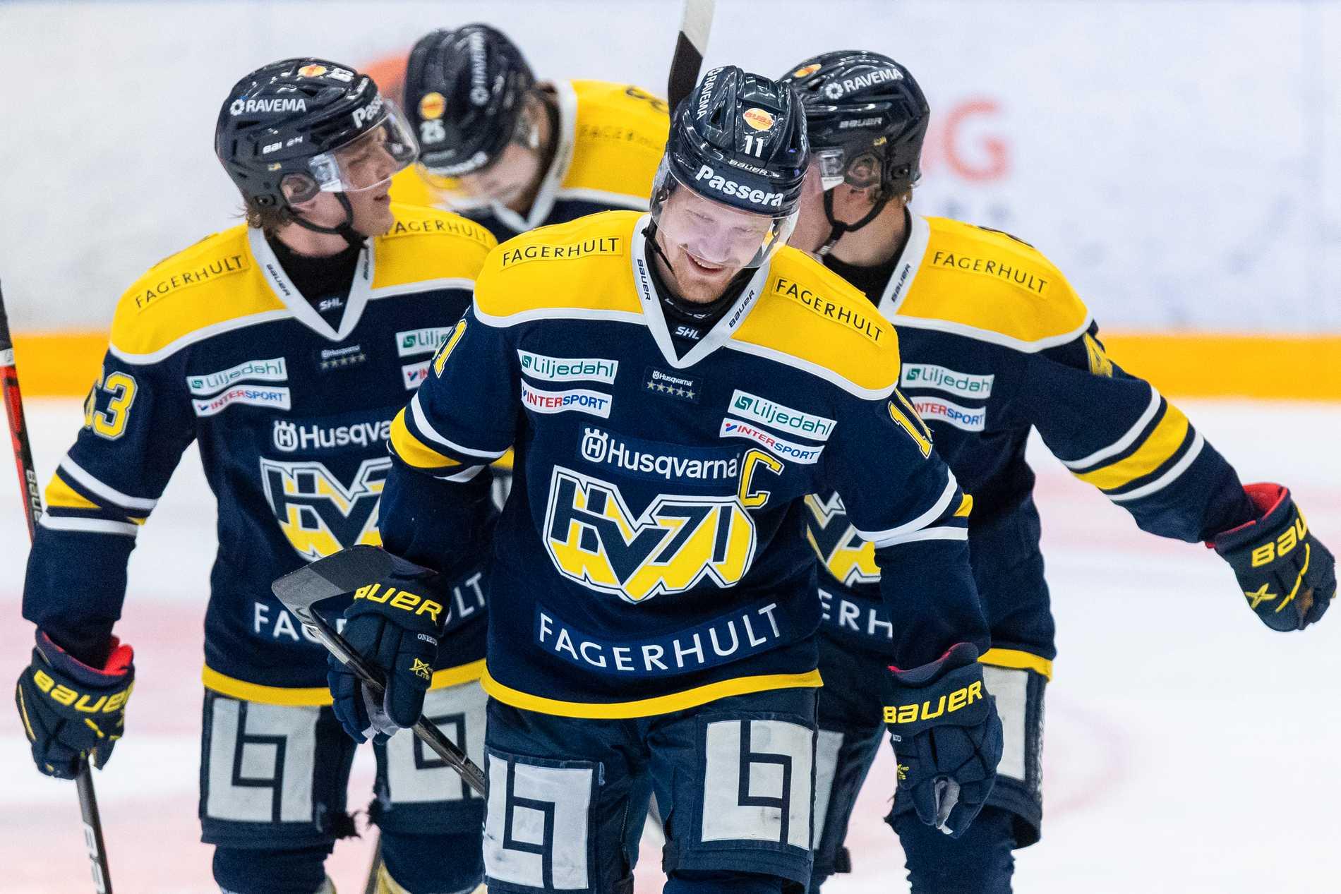 HV71 fick jubla efter elva raka förluster.