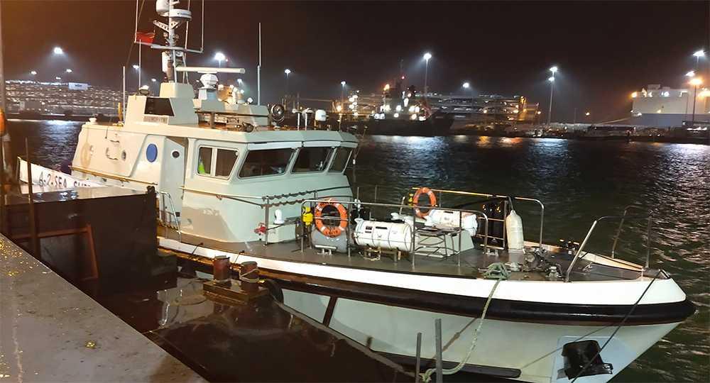 Båten som användes vid upphittandet av flygplanet Sala befann sig i.