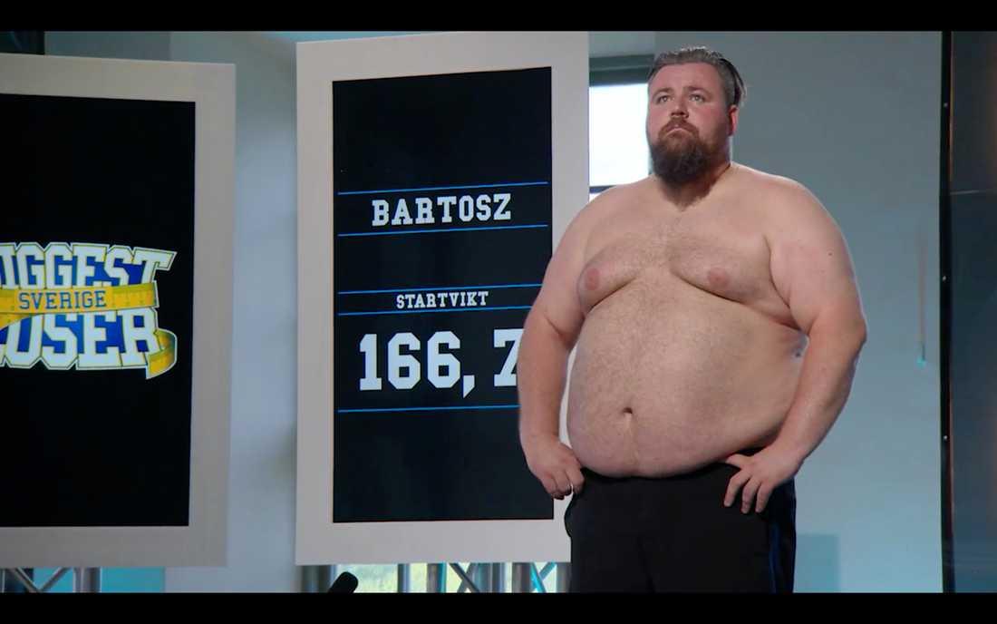 """Bartosz Komenda har gått upp nästan hela sin vikt sedan han tävlade i """"Biggest loser"""", nu ställer han upp igen."""