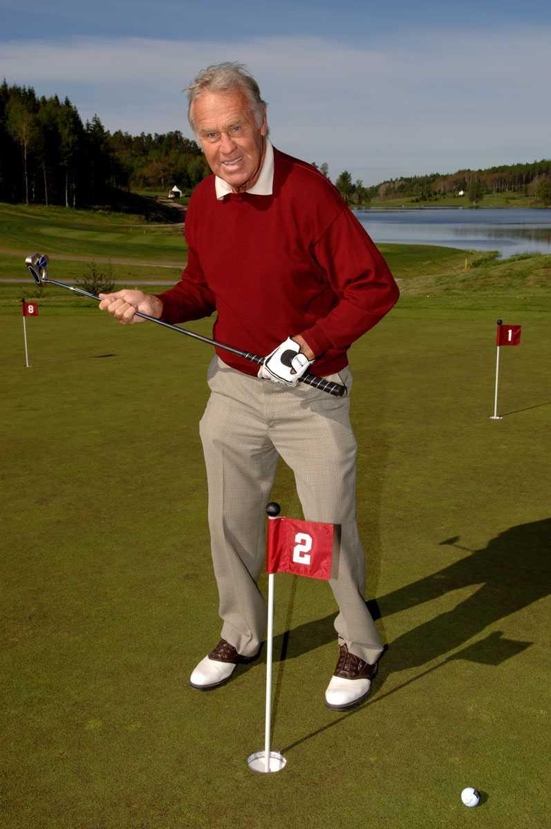 På golfbanan 2005.