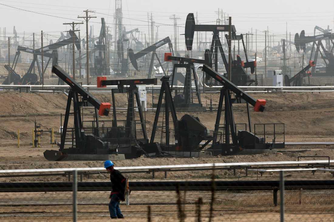 Ett nytt övervakningsprogram ska minska fossilindustrins läckage av metan med 60–75 procent till år 2030. Arkivbild.