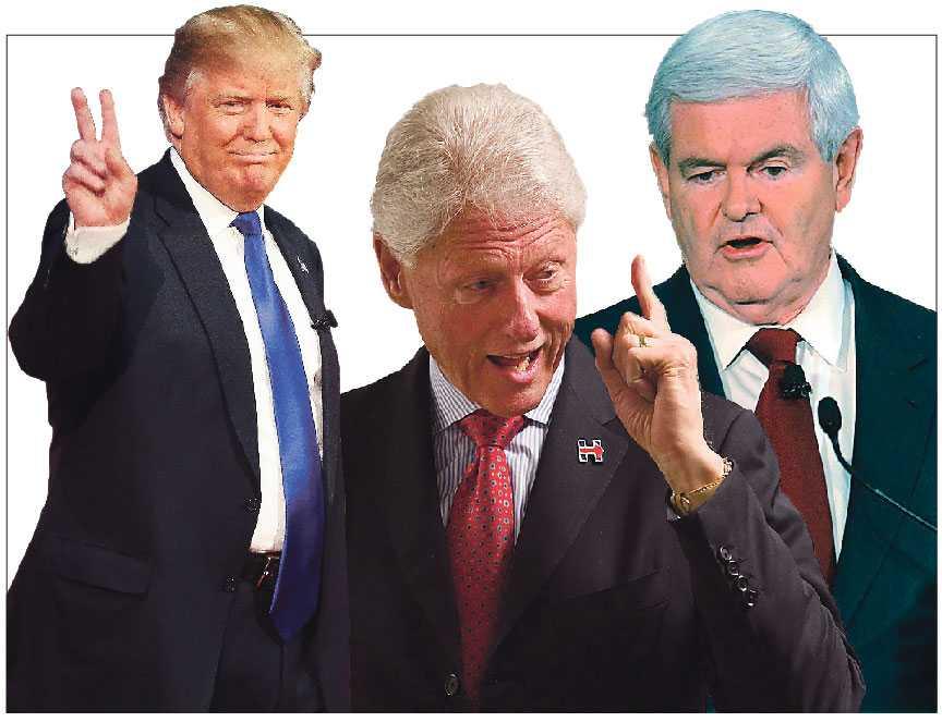 Har Donald Trump, Bill Clinton och Newt Gingrich en överdriven aptit på livet?