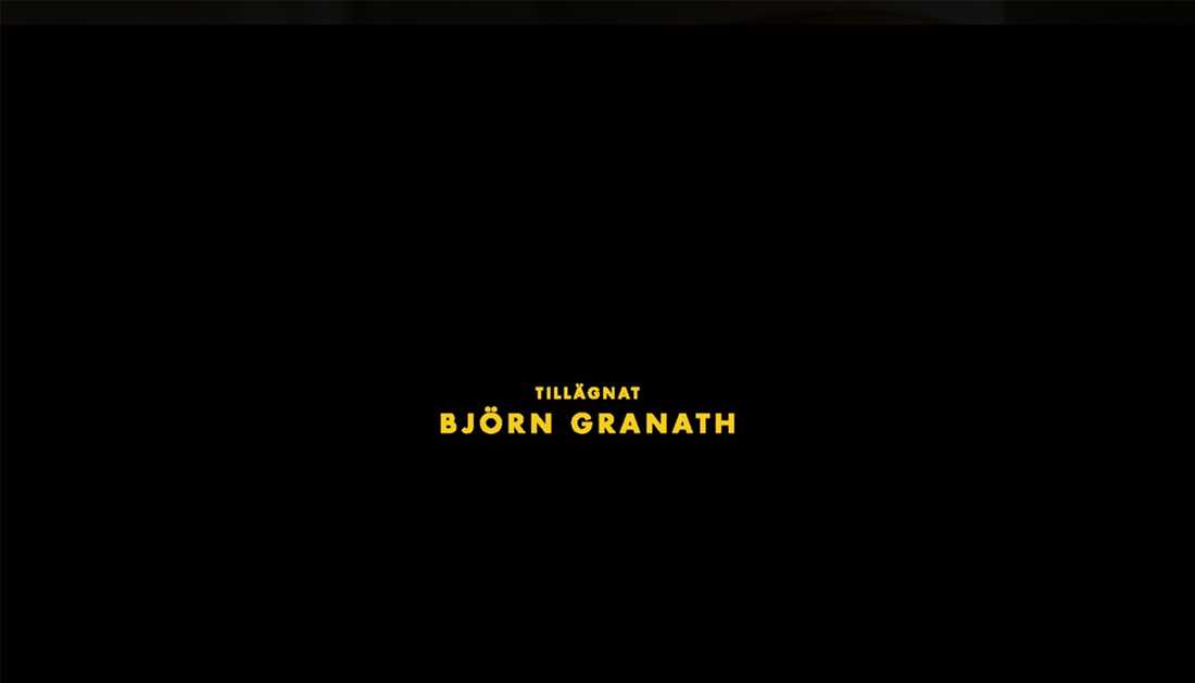 """Sista avsnittet i första säsongen av """"Vår tid är nu"""" tillägnades Björn Granath."""