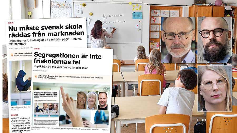 Forskarvärlden är enig om att den marknadsstyrda skolpolitiken driver på skolsegregationen. Därför är det omöjlig att ta debatten om skolan utan att samtidigt prata om marknadsstyrningen. Slutreplik från Sten Svensson, Daniel Suhonen och Lisa Gemmel.