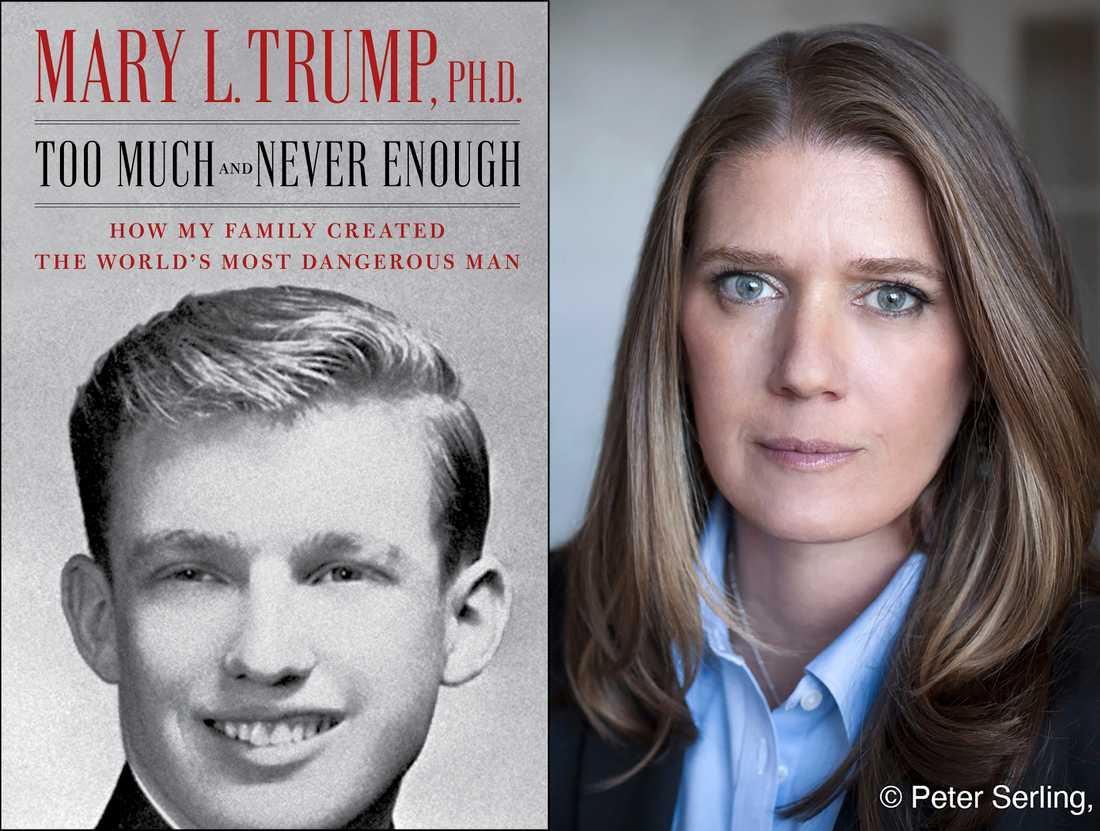 Bokens omslag, samt förlagets foto av Mary Trump.