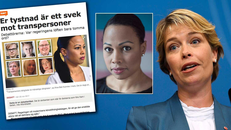 De ansvariga ministrarna Annika Strandhäll (S) och Alice Bah Kuhnke (MP) jobbar visst för att stärka hbtq- och transpersoners rättigheter i samhället, skriver de.
