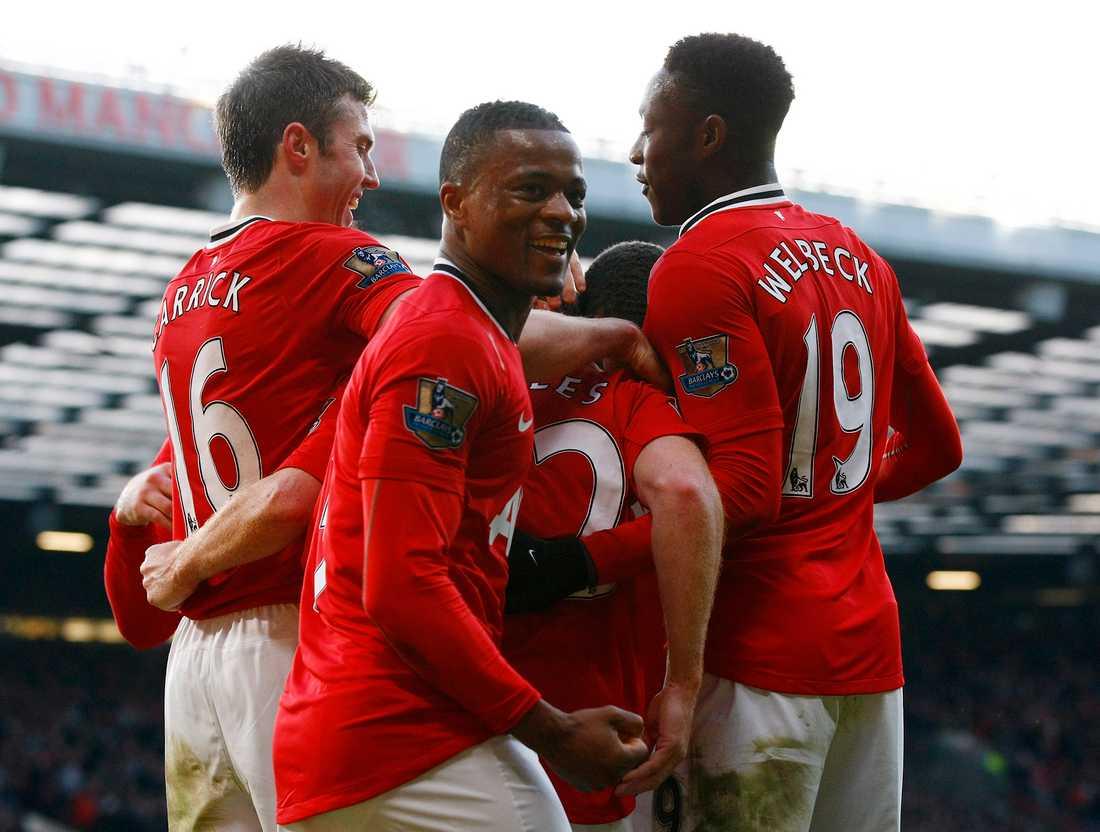 Patrice Evra under tiden i Manchester United