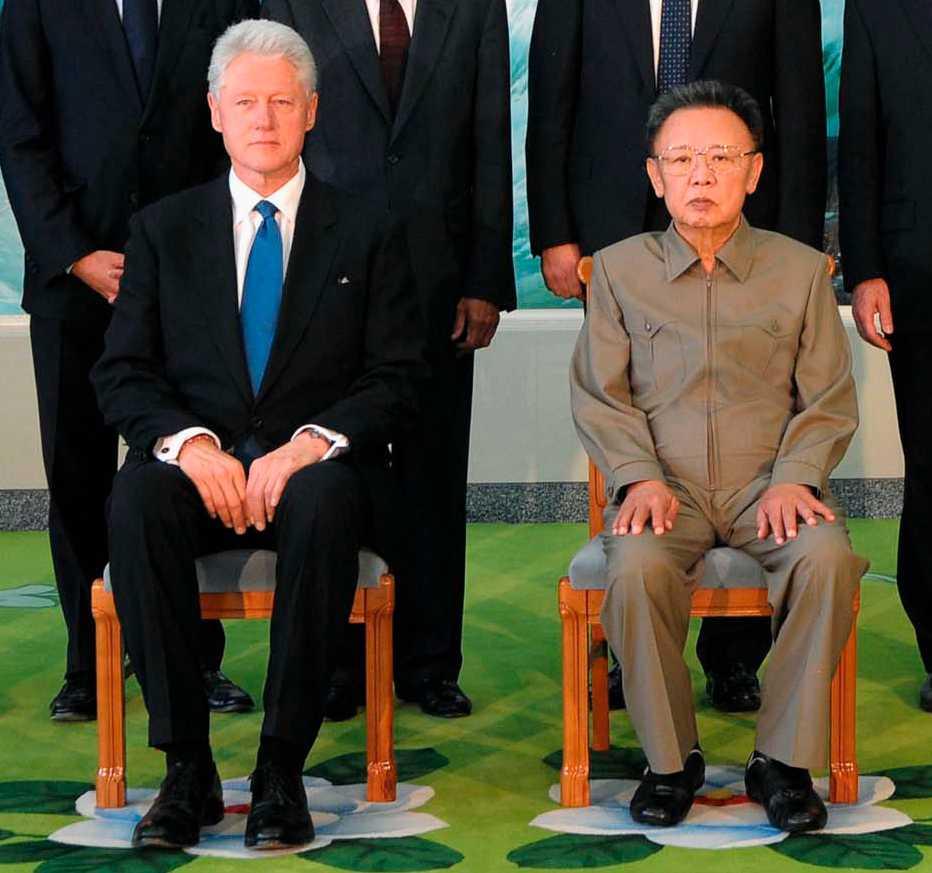 Kim Jong Il tillsammans med USA:s förre president Bill Clinton.