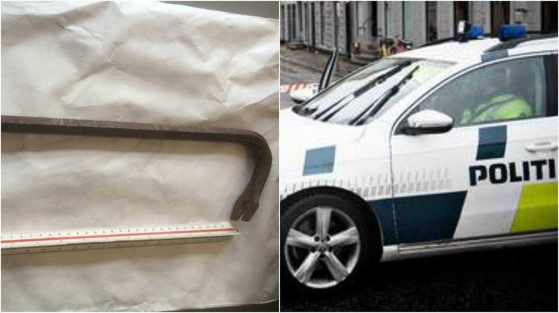 Bilden på kofoten delades i danska polisens efterlysning.
