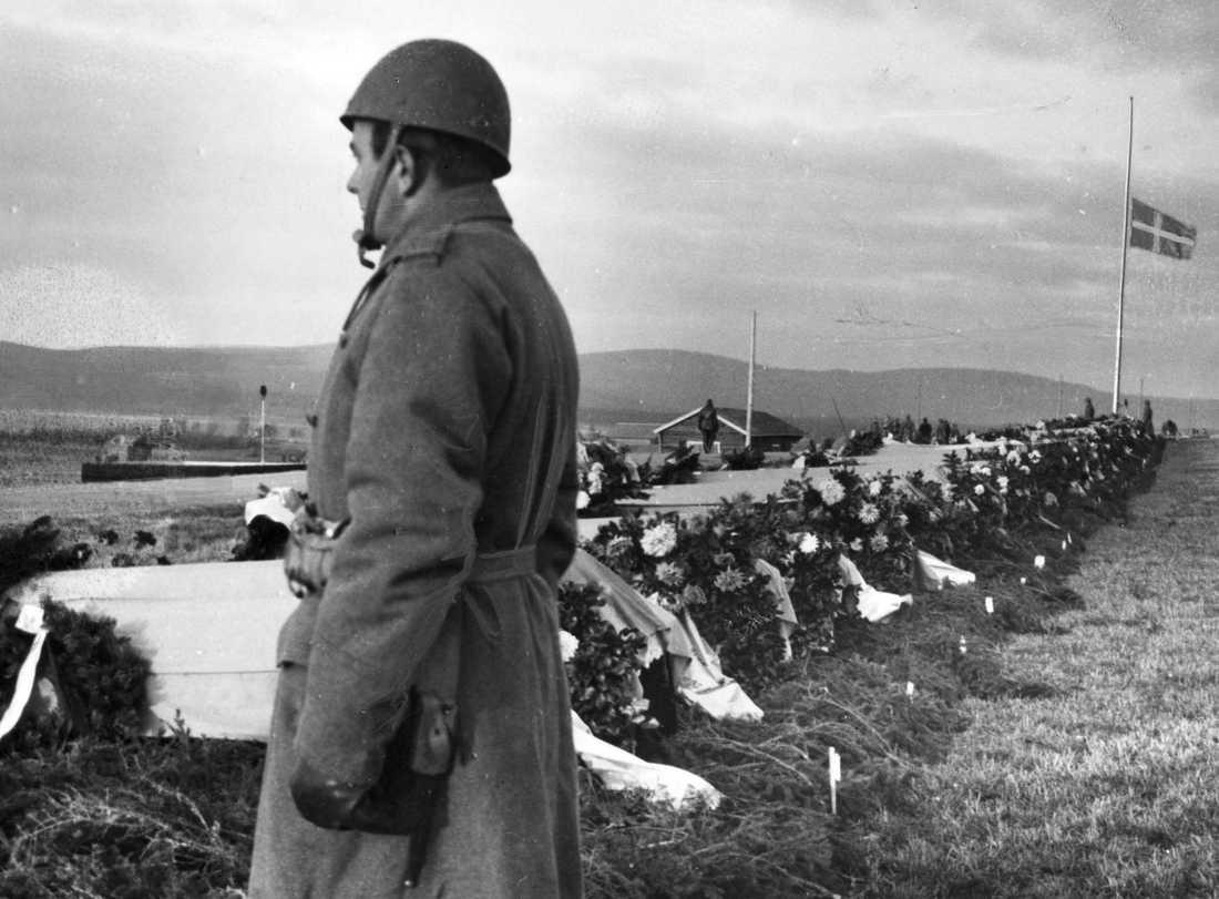 44 infanterister och två färjekarlar omkom när en färja förliste på sjön Armasjärvi 1940. Arkivbild.