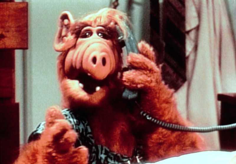 Alf, rymdfigur från serien med samma namn som sändes 1986.