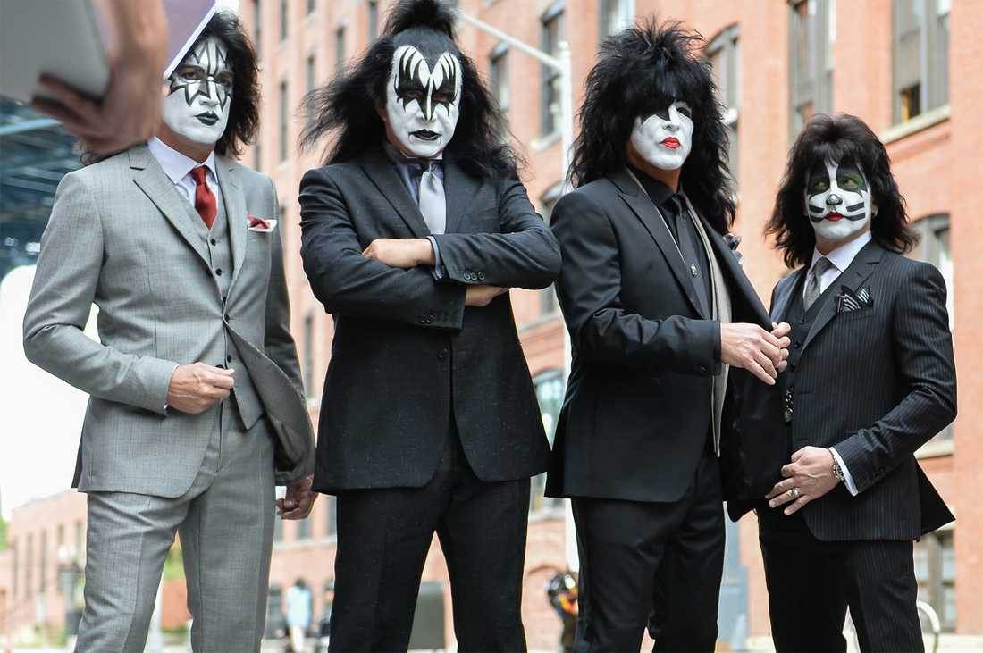 Paul Stanley, Gene Simmons, Eric Singer and Tommy Thayer i Kiss.