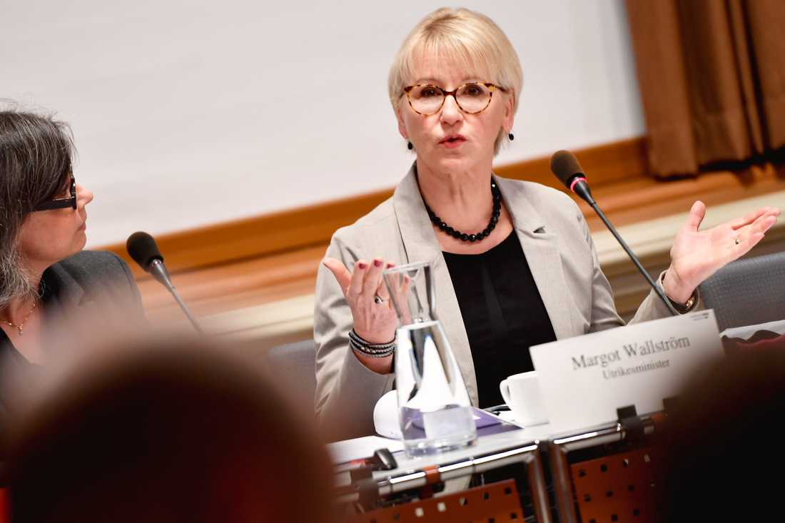 """Utrikesminister Margot Wallström (S) har sagt att barnen """"om möjligt"""" ska hämtas hem. Arkivbild."""