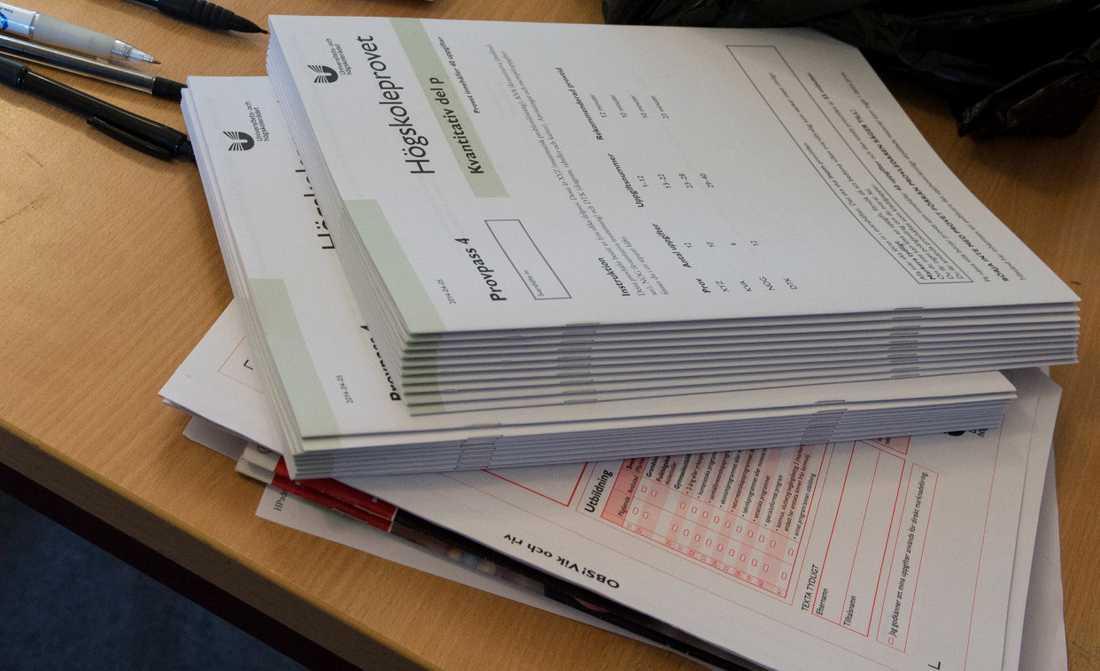 Platserna till årets högskoleprov lottas ut. Arkivbild.