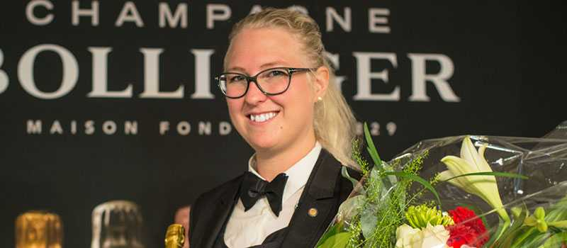 Till vardags tar Emma Ziemann hand om vinerna på Upper House i Göteborg.