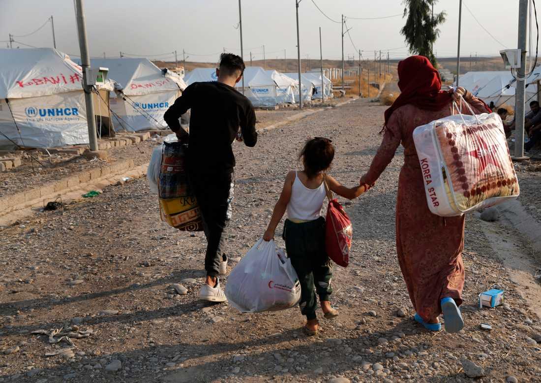 Hundratusentals människor har drivits på flykt sedan Turkiet inledde sin offensiv i Syrien.