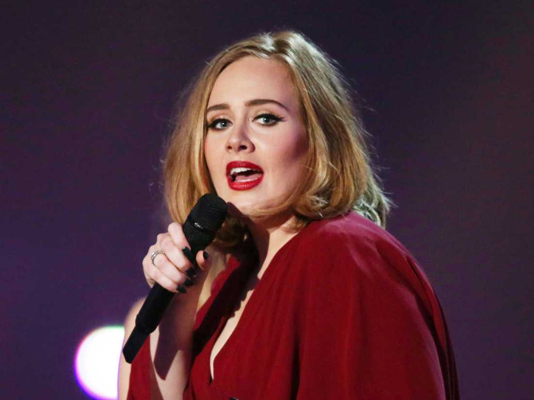 Sångerskan Adele.