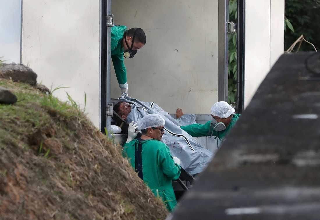 57 fångar dödades i ett fängelseupplopp i maj i år i delstaten Paras. Arkivbild.