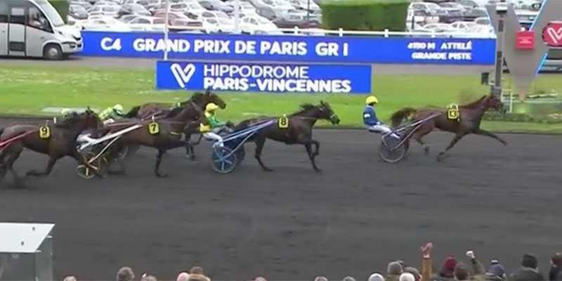 Belina Josselyn vann Prix de Paris före Tony Gio  och Earl Simon under söndagen.