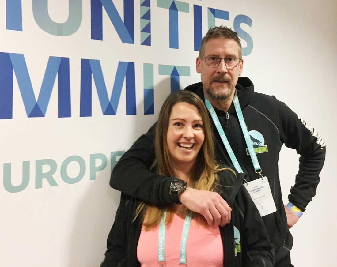 Anna och Stefan Karlsson var inbjudna till London för att prata om hur de gjort för att lyckas så bra med VildaKidz.