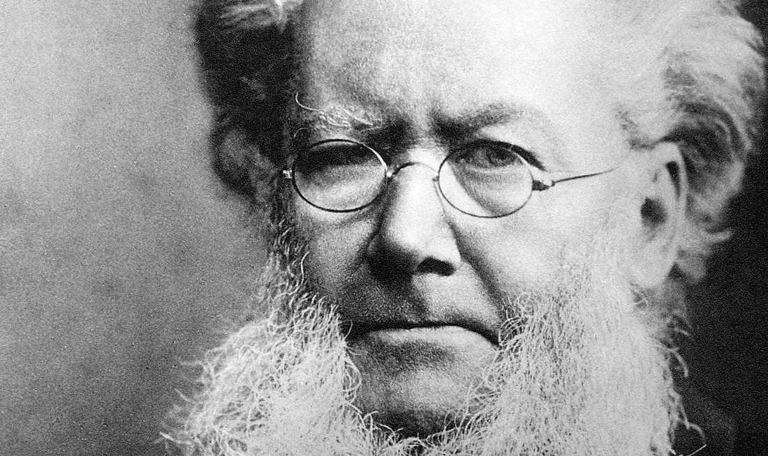 Henrik Ibsen (1828–1906), norsk dramatiker och författare.