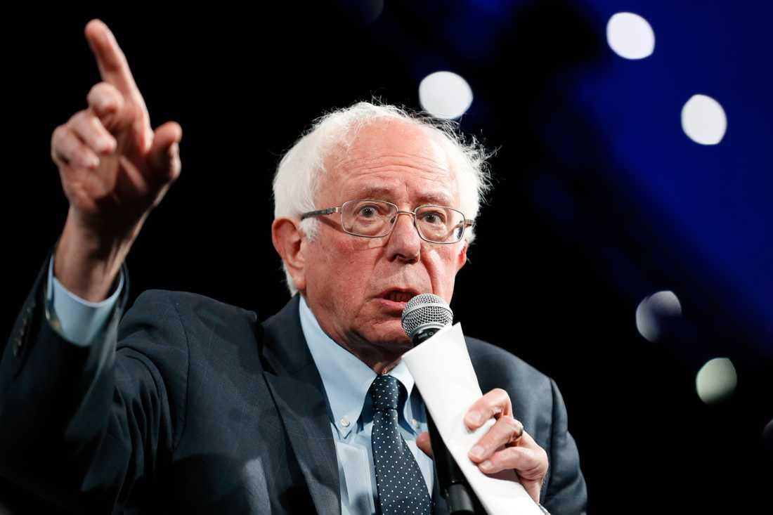 Presidentaspiranten och Vermontsenatorn Bernie Sanders.