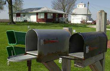 Brevlådor i Illinois hålls öppna.