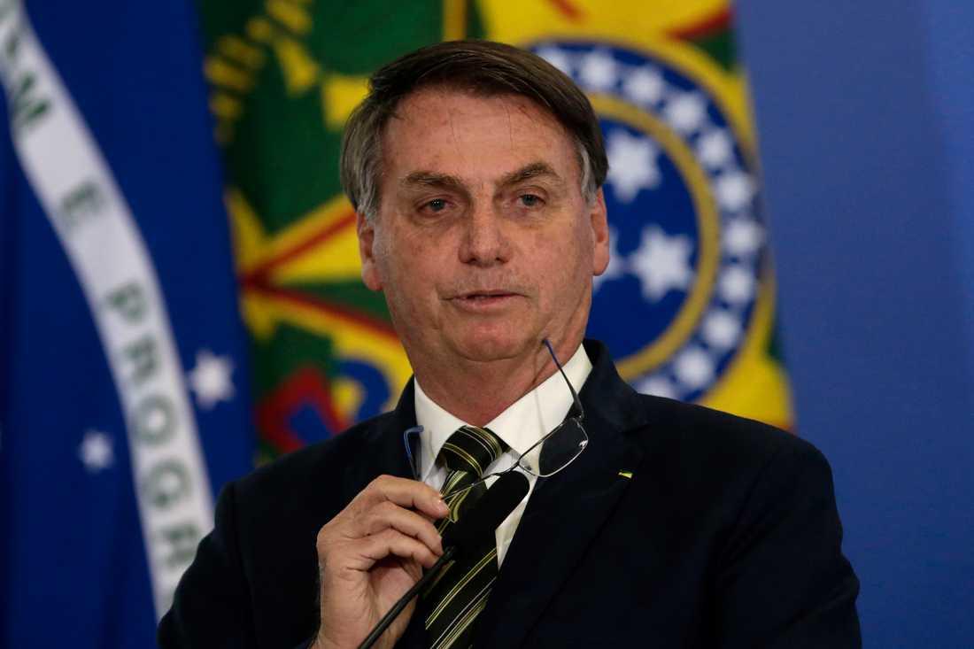 Brasiliens president Jair Bolsonaro under onsdagen.