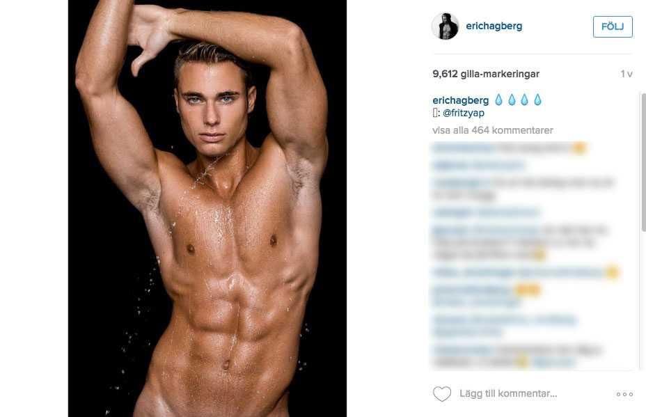 Eric Hagberg satsar på en modellkarriär.