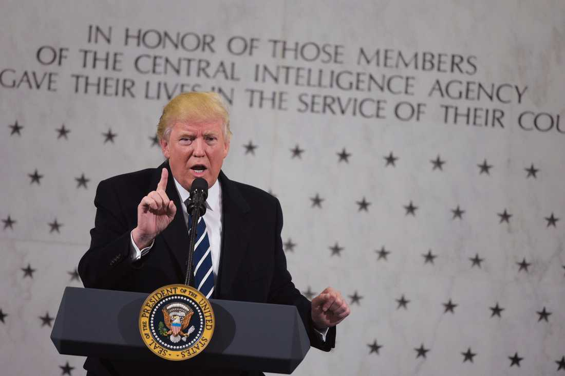 Trump under sitt tal hos CIA.